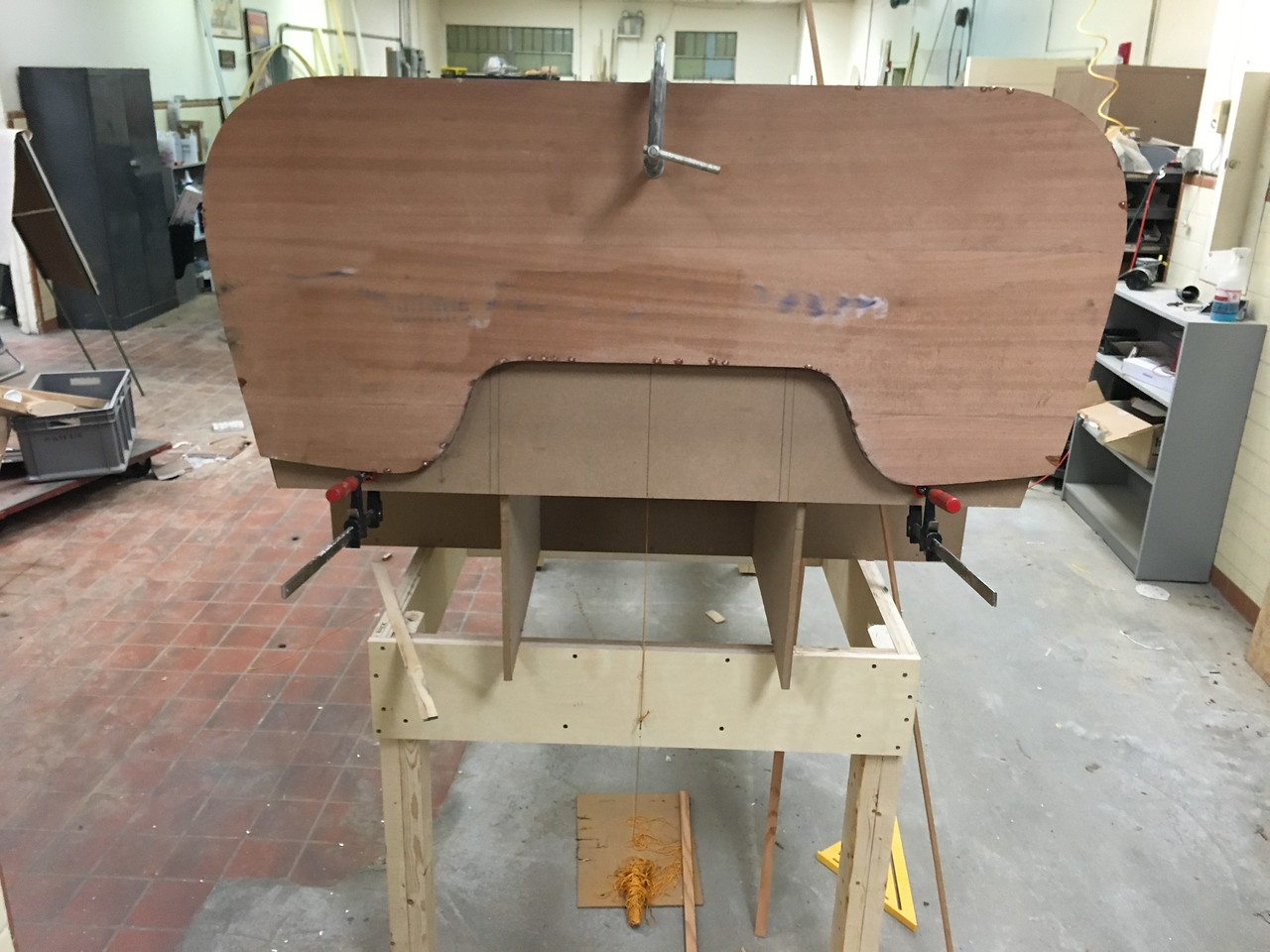 Transom attached to the Transom Jig