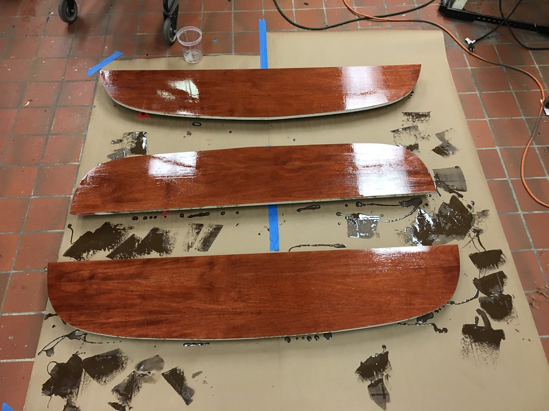 Epoxy the Seat Supports