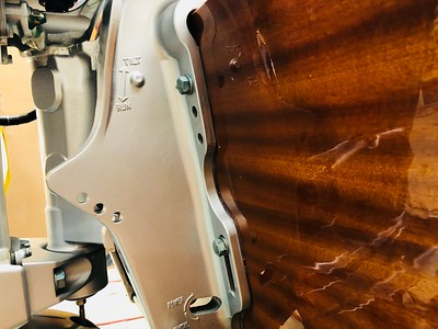 The motor mount now sits flush to the transom