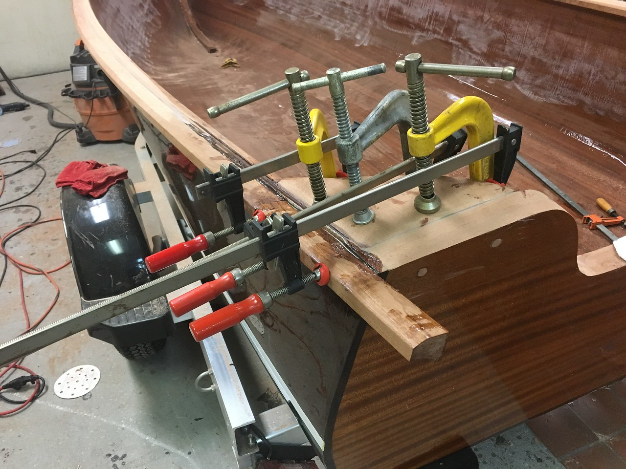 Epoxy and Clamps to Clamp the Clamps