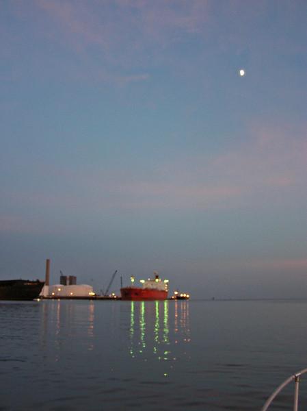 New Haven Harbor, evening