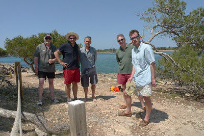 Five men on Minorca: Richard Donkin, Shawn Donnan, Victor Mallet, Brioan Douglas, Jeremy Harding.
