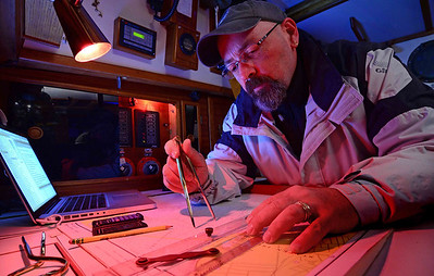 Live-aboard sailor, Chuck Knowles, charts the course.