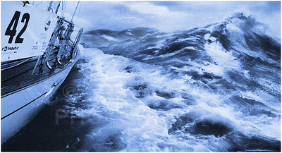 An illustration of summer weather conditions in the North Atlantic.