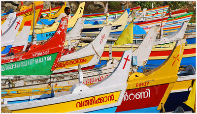 Fishing fleet on the Malabar Coast, southwestern India.
