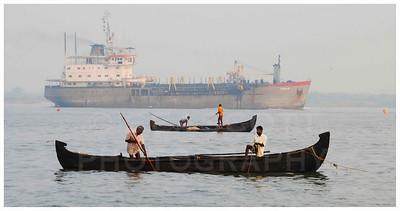 Fishing the shallows,  Cochin, India.