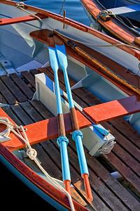 Blue oars