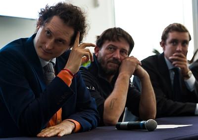 Left to Right: John Elkann, Giovanni Soldini and Pierre Casiraghi.