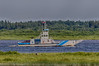 Barge Niska I on the Moose River headed to Moose Factory from Moosonee. HDR efx balanced from three exposures.