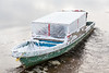 Darren Blueboy's taxi boat heads to Moose Factory.