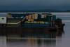Stern of barge on the Moose River at Moosonee.
