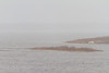Looking up the Moose River. Low visibility in heavy rain.