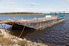 Barge docked at Moosonee on the Moose River.