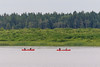 Paddle canoes on the Moose River at Moosonee.