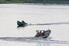 Canoes on the Moose River at Moosonee.