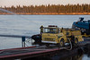 Fire training Moosonee Volunteer Fire Department by tug Nelson River along the Moose River.