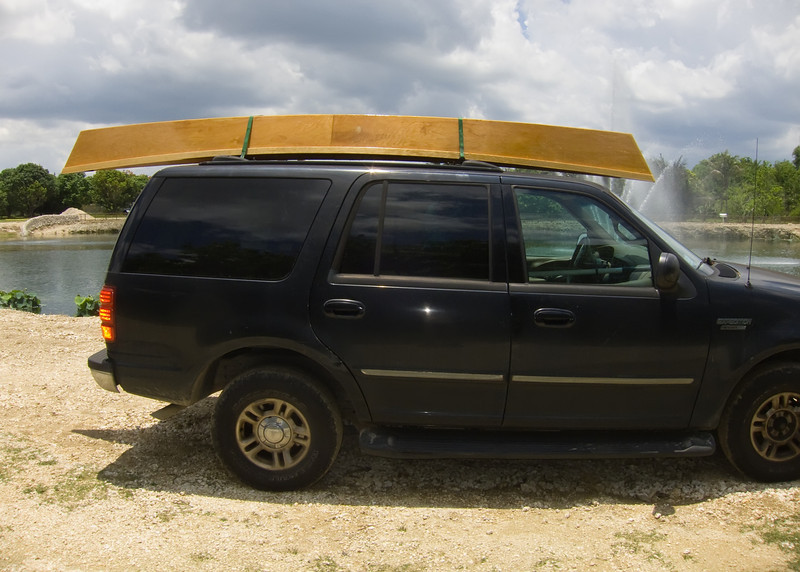 When attached to the roof of a standard american vehicle, the Pirogue creates aeronautic lift...propelling the driver and occupants along the road with the greatest of ease.