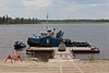 Tug Nelson River at regular dock after going into the water at Moosonee for the 2010 shipping season 2010 June 22nd.