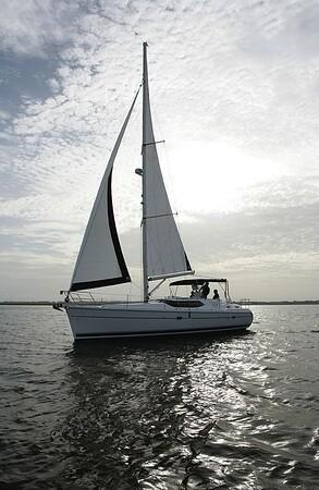 Hunter Passage 45 sailing in St. Augustine, Fl.
