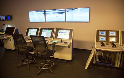 Ship's bridge replica/simulator