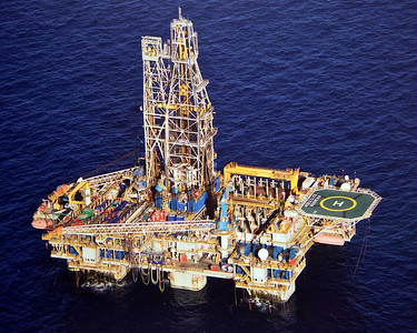Floating offshore drilling rig.