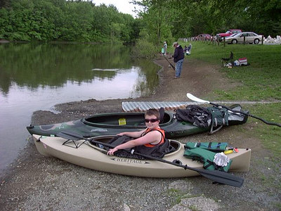 May 2005: Eddie Brennan checks his equipment as he prepares for the 2005 Schuylkill Sojourn