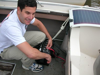 Installing a new solor panel = 25 May 2003