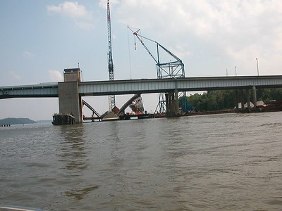 Wilson Bridge construction.  19 July 2003