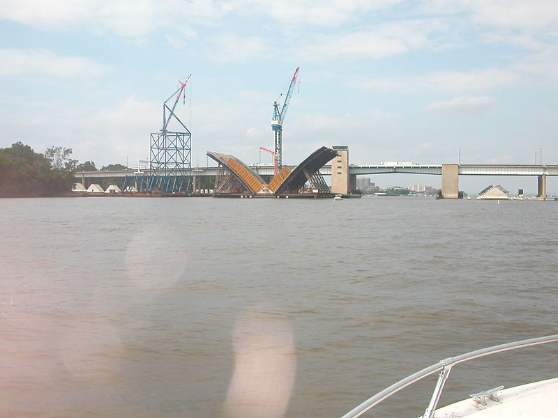 Wilson Bridge construction - Haven't done much in over a month.<br /> 1 Sep 2003