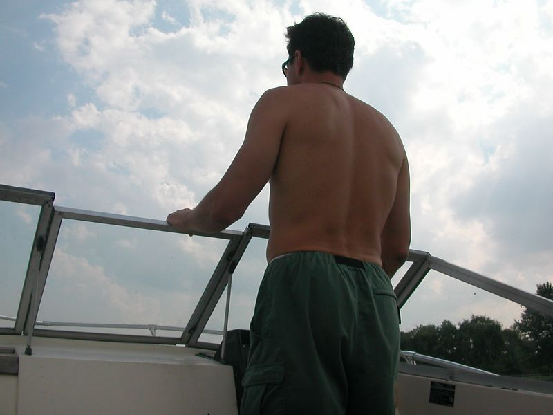 The Captain on the bridge. <br /> 19 July 2003.