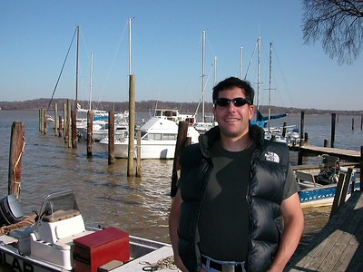 Now here is the owner of the boat smiling, like he knows where his boat is. 9 Mar 2003