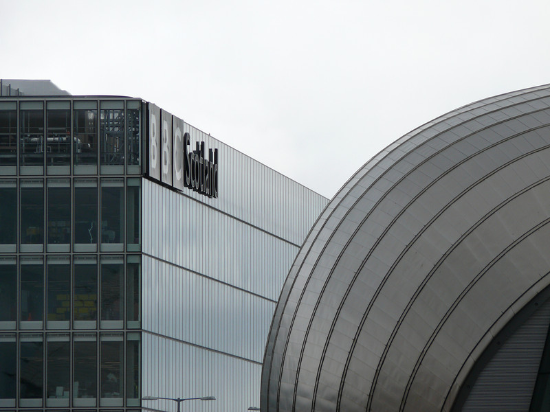 BBC and Imax buildings.