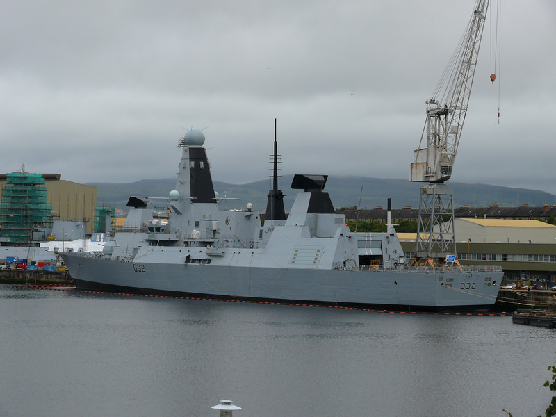 HMS DARING at Scotstoun.