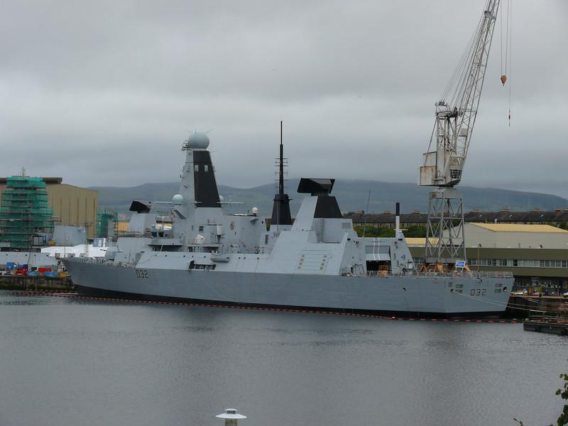 HMS DARING at Scotstoun.