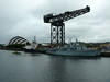 POLE STAR, SAINT MUNGO, HMS MIDDLETON and HMS QUORN at Finnieston Quay.