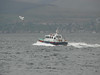 Pilot boat TOWARD at speed off Greenock Esplanade.<br /> 17th May 2009