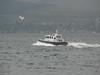 Pilot boat TOWARD at speed off Greenock Esplanade.<br /> 17th May 2009