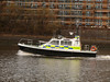 Police vessel PEGASUS heading downriver.<br /> 30th March 2008
