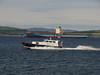 Maersk Beaumont and Mount Stuart off Greenock Esplanade.<br /> 20th June 2010.