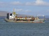 """Dredger <a href= """"http://clydesights.com/search?q=wd+medway+ii"""">WD MEDWAY II</a> off Greenock Esplanade. 26th April 2008"""