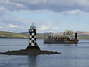 WD MEDWAY II heads downriver, past Port Glasgow.<br /> 15th April 2008