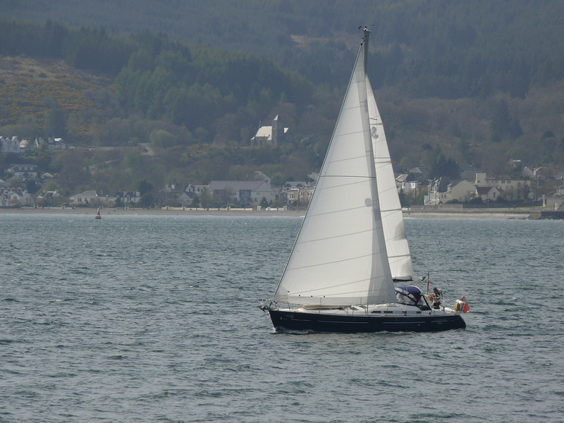 Yacht off Cloch.<br /> 26th April 2008