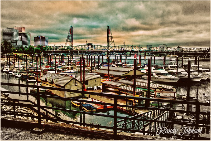On The Waterfront Portland early morning.