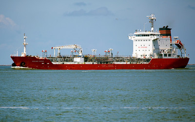 The Tanker Ocean Cerise enters the Ship Channel