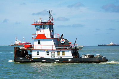 The Push Boat Jeanie G. in Galveston Harbor