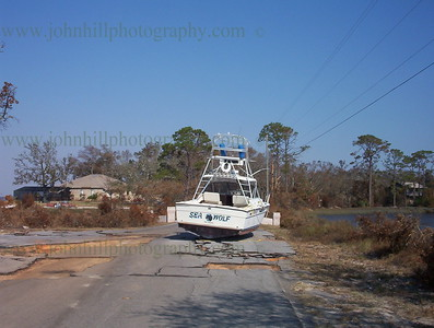 g000_0152-Boat on Innerarity Point Road after Hurricane Ivan