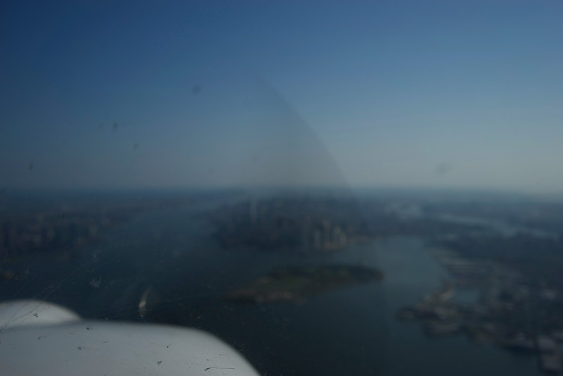 Single Engine Propeller Plane over Hudson River