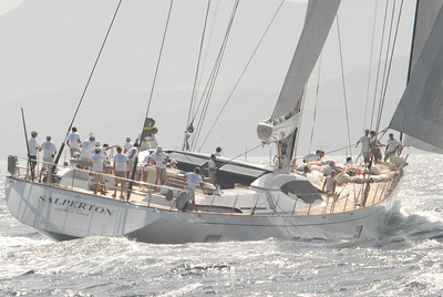 Salperton III racing in the Maxi Yacht Rolex Cup, Porto Cervo, Sardinia, September 2008.