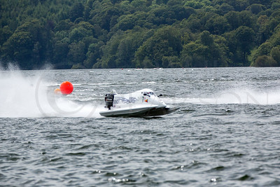 Power boats racing on Windermere