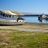 Old abandoned boat artsy